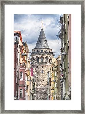 Istanbul Galata Tower Framed Print by Antony McAulay