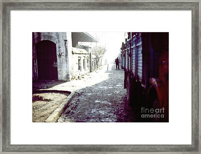 Istanbul Man In The Distance Framed Print by Scott Shaw