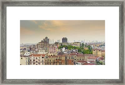 Istanbul Skyline Framed Print by Hans Engbers