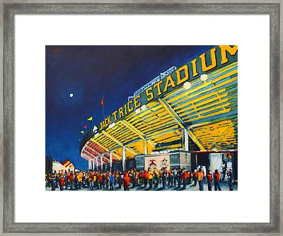 Isu - Jack Trice Stadium Framed Print by Robert Reeves