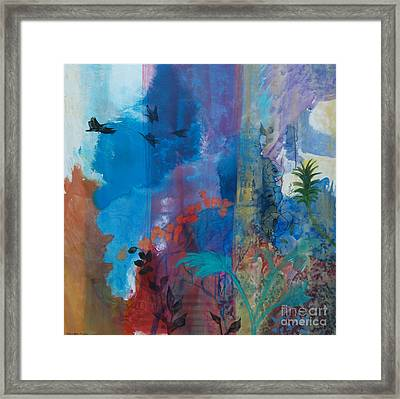 Framed Print featuring the painting It Ain't A Fable Baby by Robin Maria Pedrero