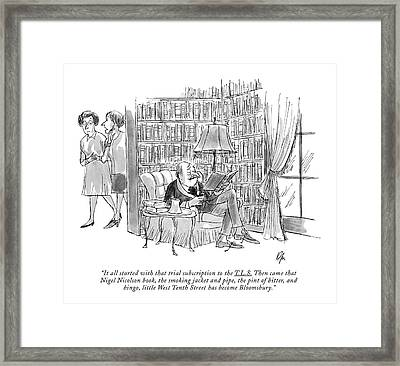 It All Started With That Trial Subscription Framed Print