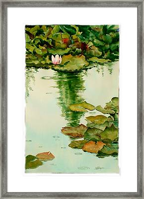It Also Rains In Monet's Garden Framed Print