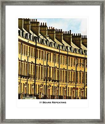 It Bears Repeating Framed Print by Lorenzo Laiken