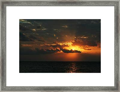 It Burns Framed Print by Laurie Search