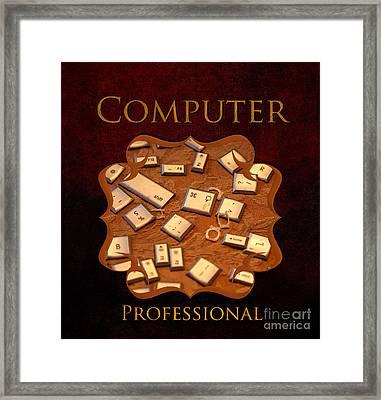 It Computer Professional  Framed Print by Iris Richardson