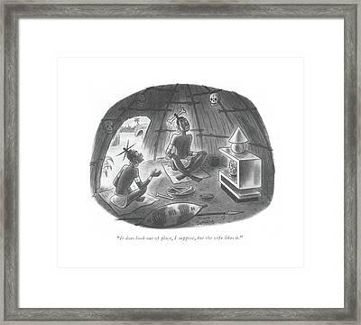 It Does Look Out Of Place Framed Print