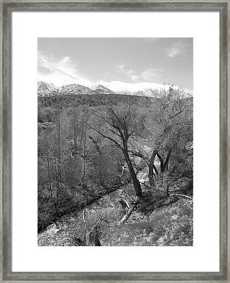 It Flows From The Source - California Framed Print