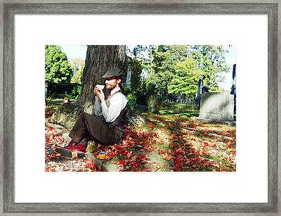 It Goes On You Know In This Way Framed Print by Tracy  Tanner