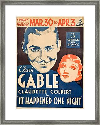It Happened One Night - 1934 Framed Print