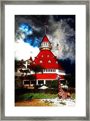 It Happened One Night At The Old Del Coronado 5d24270 Stylized Framed Print by Wingsdomain Art and Photography