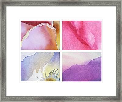 It Is All In Petals Framed Print by Irina Sztukowski