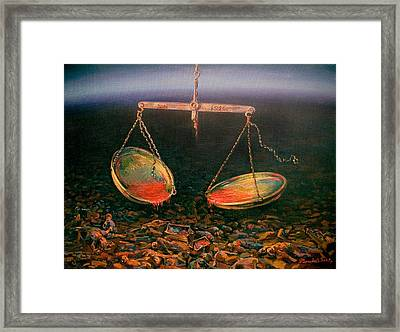 It Is Devoted To Sacred Memory The Triptych A Part 3 Framed Print