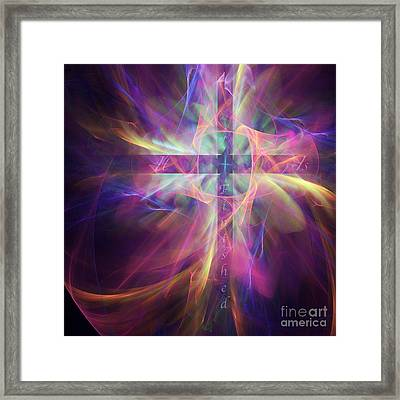 Framed Print featuring the digital art It Is Finished by Margie Chapman