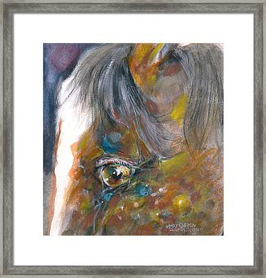 It Is In The Eye Framed Print by Mary Armstrong