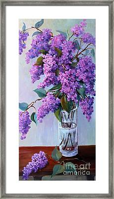 It Is Lilac Time Framed Print by Marta Styk