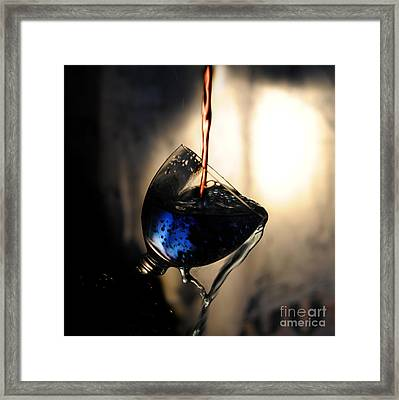 It Is Red And Blue Framed Print by Randi Grace Nilsberg