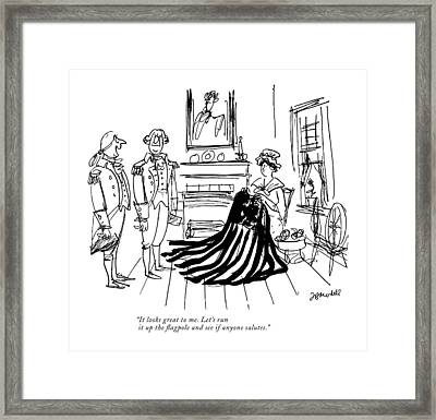 It Looks Great To Me. Let's Run Framed Print by Frank Modell
