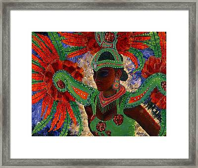 Framed Print featuring the painting It Looks Like Mardi Gras Time by Margaret Bobb