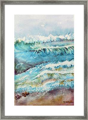 It Makes A Difference To One Little Starfish Framed Print