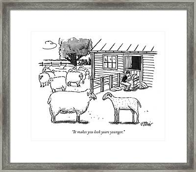 It Makes You Look Years Younger Framed Print by Peter Steiner