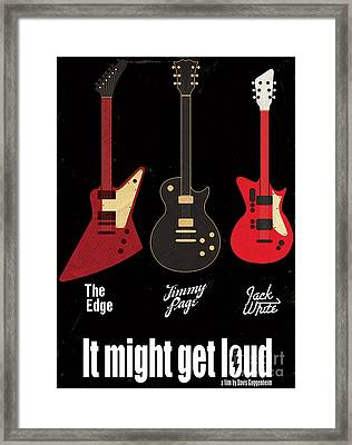 It Might Get Loud On Behance Framed Print