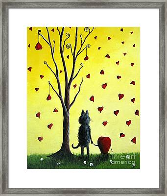 It Must Be Love By Shawna Erback Framed Print by Shawna Erback