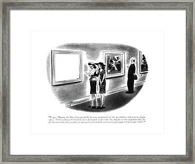 It Says, 'during The Barcelona Period He Became Framed Print