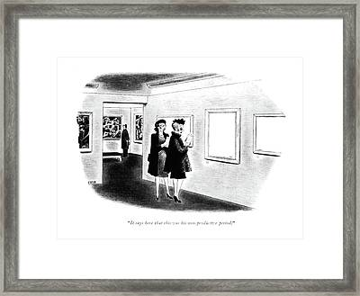 It Says Here That This Was His Non-productive Framed Print