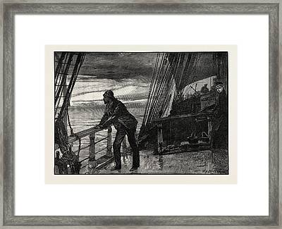It Seemed An Eternity Ere The Cold Grey Of Dawn Hovered Framed Print by Overend, William Heysham (1851-1898), British