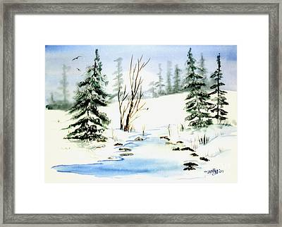 It Snowed Framed Print by Don Hand