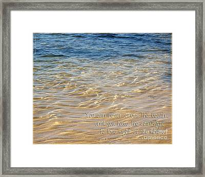It Takes Courage Framed Print