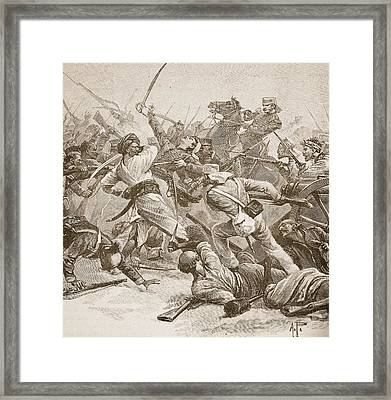 It Was Bayonet To Bayonet, Illustration Framed Print by Alfred Pearse