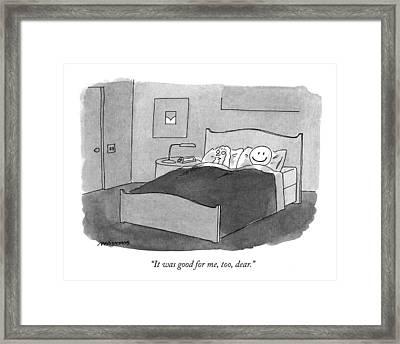 It Was Good Framed Print by Mick Stevens