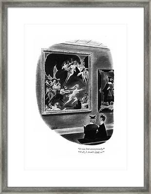 It Was Lent Anonymously. Well Framed Print by Richard Taylor