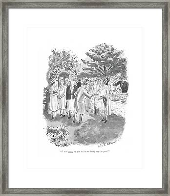 It Was Sweet Of You To Let Me Bring My Car Pool! Framed Print by Helen E. Hokinson