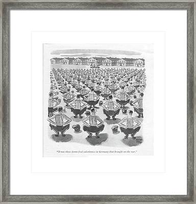 It Was These Damn-fool Calisthenics In Germany Framed Print