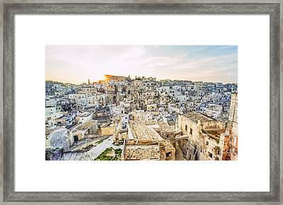 It255429 Italy Matera European Cultural Capital 2019 Framed Print