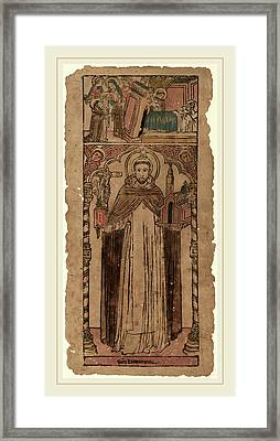 Italian 15th Century, Saint Dominic Framed Print by Litz Collection