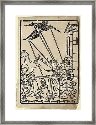Italian 15th Century, Saint Francis Receiving The Stigmata Framed Print