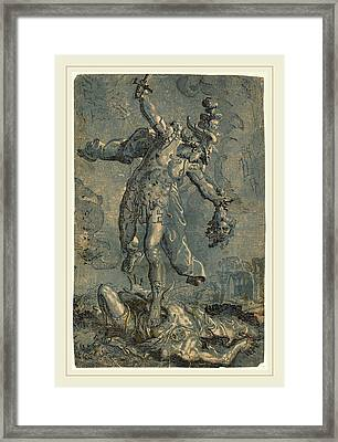 Italian 16th-17th Century After Marco Pino Framed Print by Litz Collection