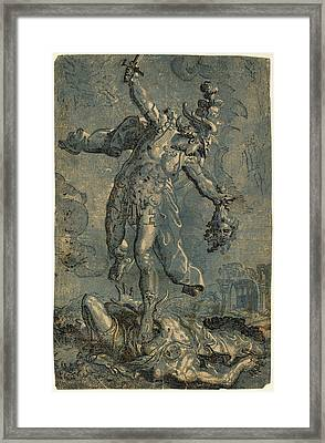 Italian 16th-17th Century After Marco Pino Framed Print by Quint Lox