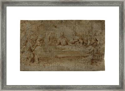 Italian 16th Century, The Last Supper, Mid 16th Century Framed Print