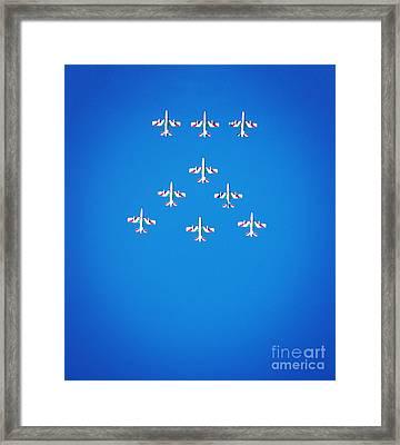 Italian Aerobatics Team Framed Print by Stefano Senise
