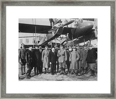 Italian Aircraft Production, World War I Framed Print by Science Photo Library