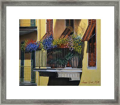 Italian Balcony Framed Print