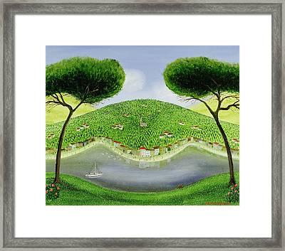 Italian Bay Framed Print by Mark Baring