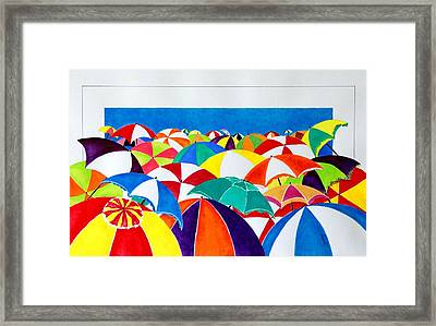 Italian Beach Framed Print by Thomas Gronowski