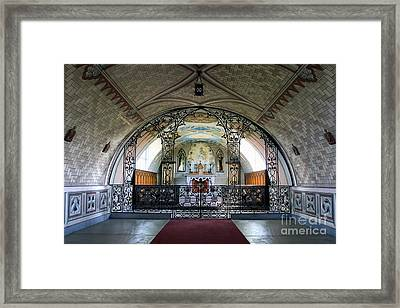 Italian Chapel Mural Lamb Holm Orkney Framed Print by Tim Gainey