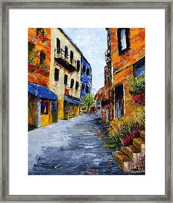 Italian Cityscape Framed Print